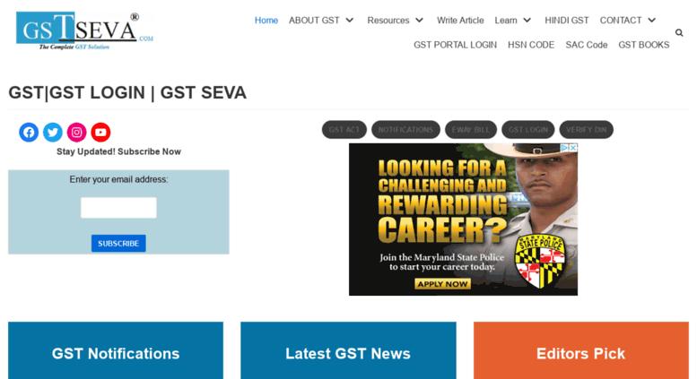 Access gstseva com  GST : GSTSEVA -Goods and Services Tax