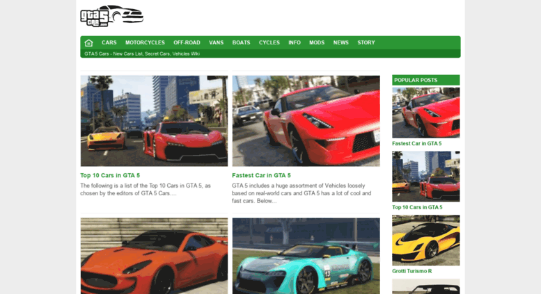 Access gta5car com  GTA 5 Cars - New Cars List, Secret Cars