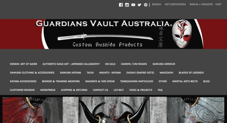 Access guardiansvaultaustralia com  Samurai Swords Australia