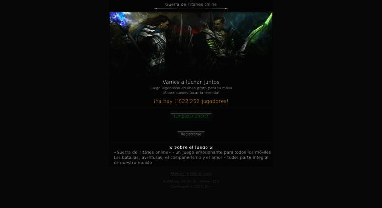 Access Guerradetitanes Net Guerra De Titanes Online El Mejor