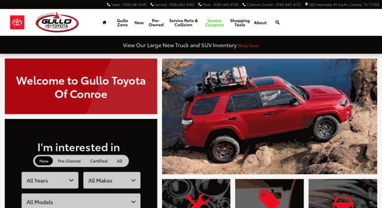 Car Dealerships In Conroe Tx >> Access Gullotoyota Com Toyota Dealership Used Car Dealer