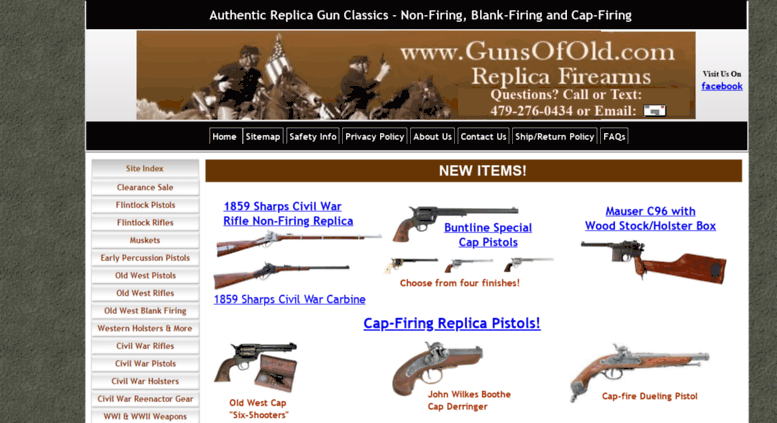 Access gunsofold com  Historic Replica Guns, Reenactor Gear