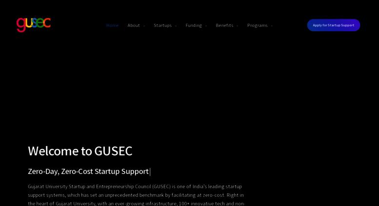 Access gusec org  GUSEC - Gujarat University Startup and