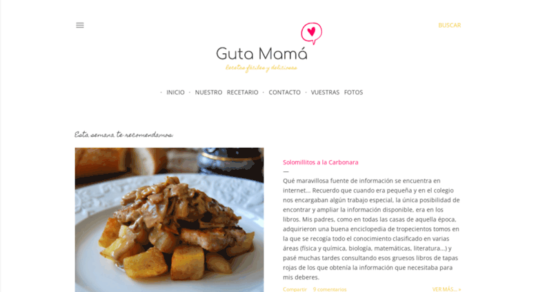 Access Gutamamacom Guta Mamá Recetas Y Reposteria Faciles