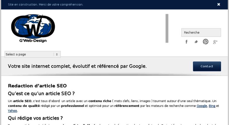 d63c2770e43 Access gweb-design.com. Agence Web - Création de site internet et  référencement à Toulouse