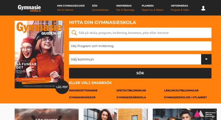 Access gymnasieguiden.se. GymnasieGuiden - Välj rätt gymnasium! dd00abb622631