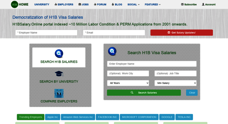 Access h1bsalary online  H1B Salary Online - Search For H1B