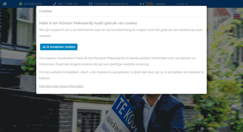 access hallie-vanklooster.nl. hallie & van klooster makelaardij