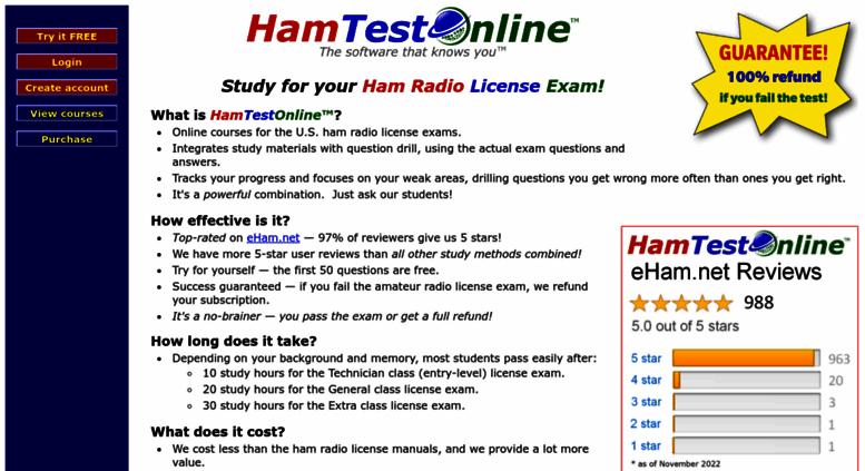 access hamradiolicenseexam. hamtestonline - ham radio exam