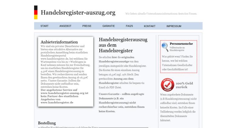Access Handelsregister Auszug Org Handelsregister Deutsche Firmen