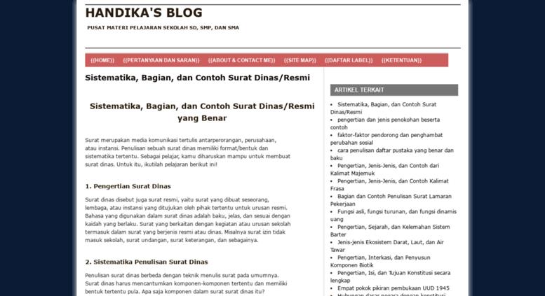 Access Handikap60 Blogspot Co Id Contoh Fungsi Proses Materi