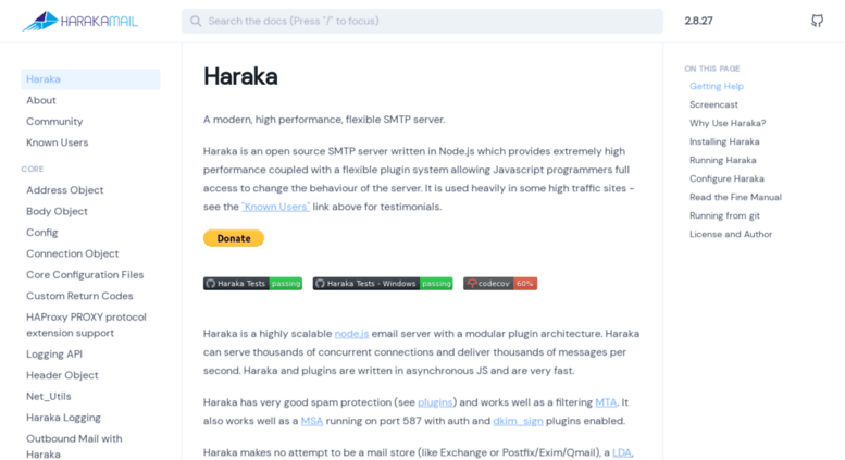Access haraka github io  Haraka SMTP Email Server