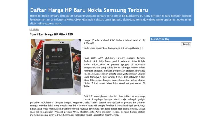 Access Hargahpbaru Blogspot Com Daftar Harga Hp Baru Nokia Samsung