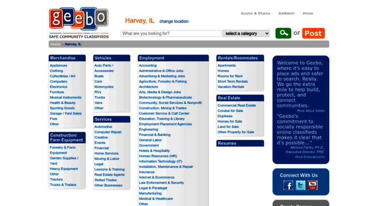 Access harvey-il geebo com  Harvey IL Free Classifieds Ads