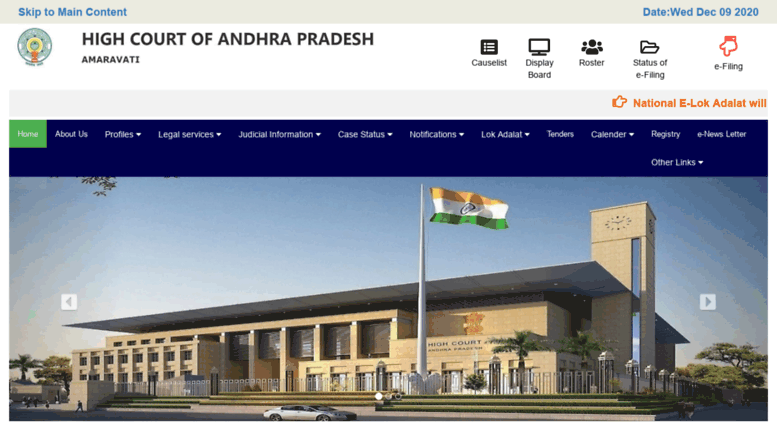 Access hc ap nic in  WELCOME TO HIGH COURT OF JUDICATURE AT