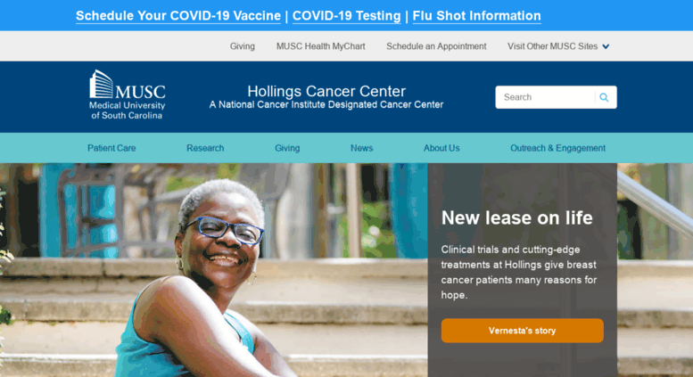 Access hcc musc edu  Hollings Cancer Center | MUSC