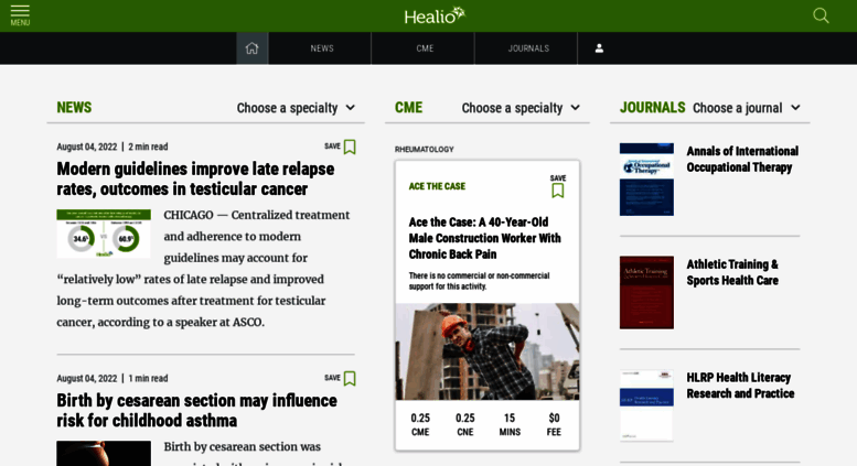 Access healio com  Healio: Medical News, Journals, and Free CME