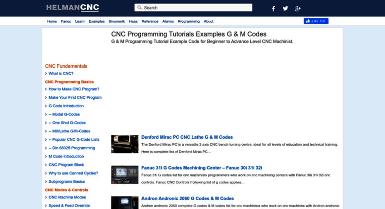 Access helmancnc com  CNC Programming Basics, Tutorials