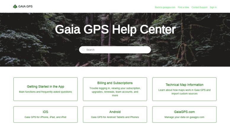 Access help gaiagps com  Gaia GPS