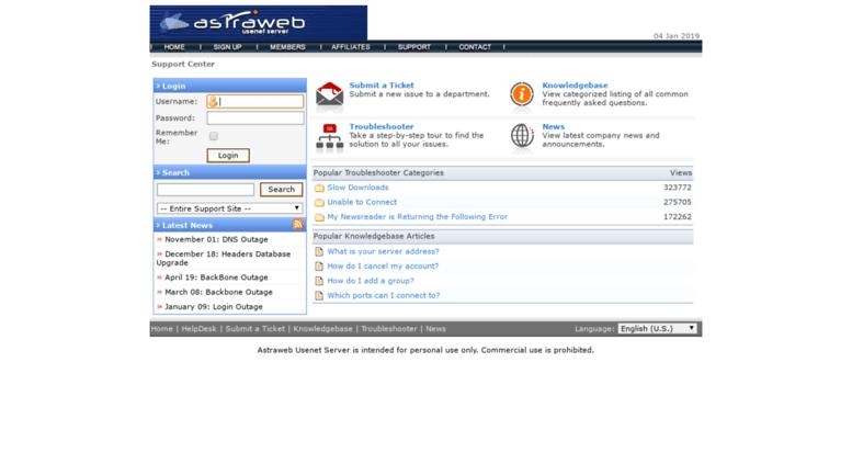 Access helpdesk astraweb com  Astraweb Usenet Server