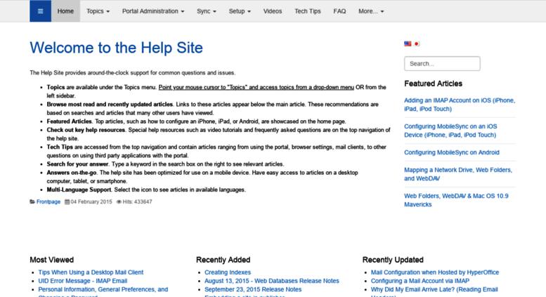 Access helpsite hyperoffice com  Help Site - Home