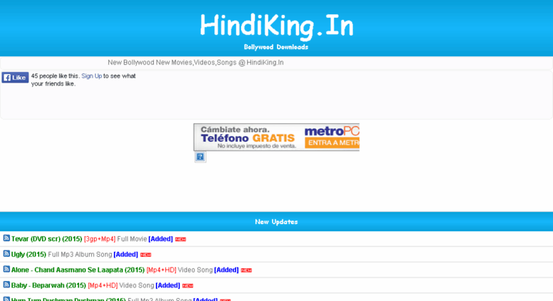 Access hindiking in  Free Download Full Movies, Latest