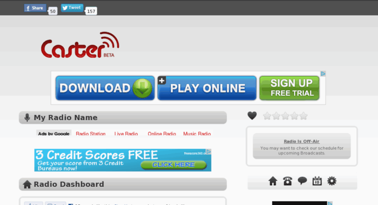 Access hitscoreradio caster fm  Free Shoutcast Server