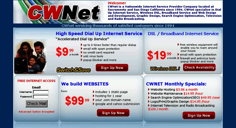 Access Home Cwnet Com Cwnet Offers High Speed Dial Up