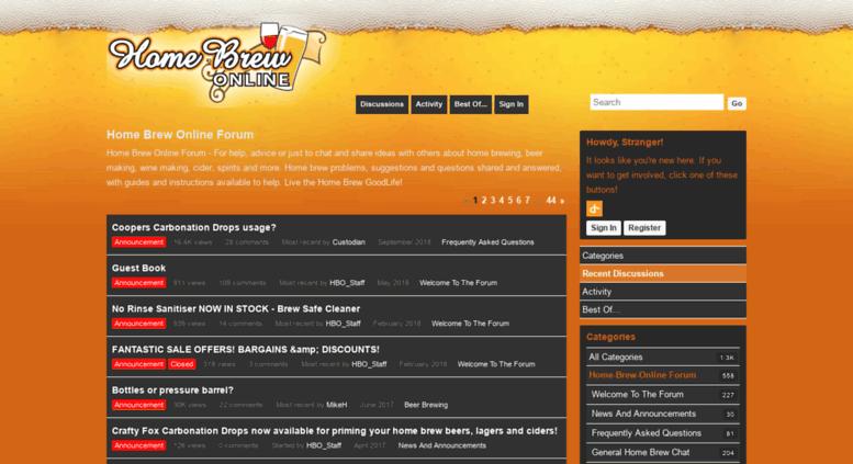 Access homebrewonline vanillaforums com  Home Brew Online Forum