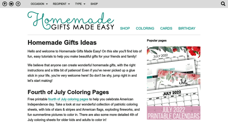 Homemade Gifts Made Easy Screenshot Access Free Gift Ideas