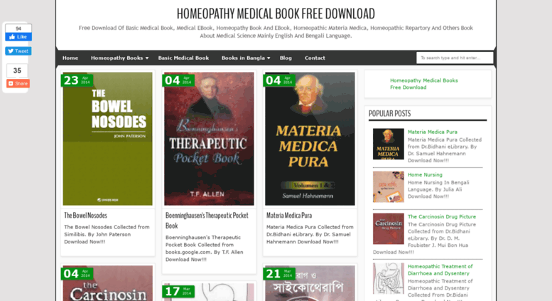 Access Homeopathymedicalbook Blogspot Com Homeopathy Medical Book