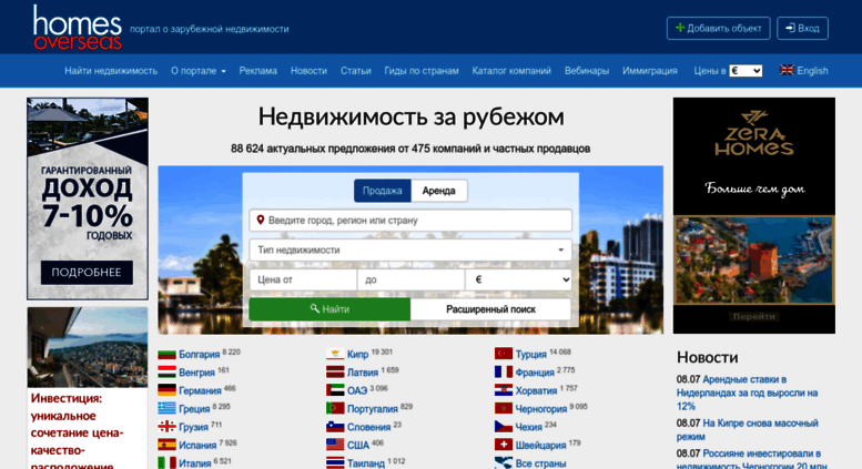 Порталы о продаже недвижимости за рубежом аренда недвижимости в эстонии