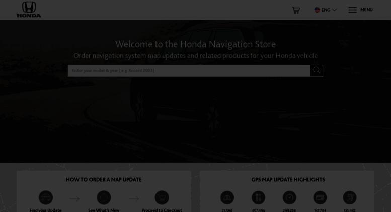Access hondanavi navigation com  The Official Honda Map
