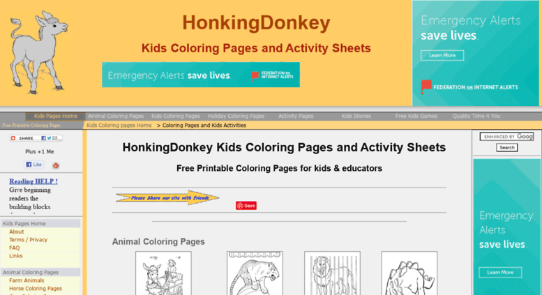 Access honkingdonkey.com. Kids Coloring Pages | Free ...