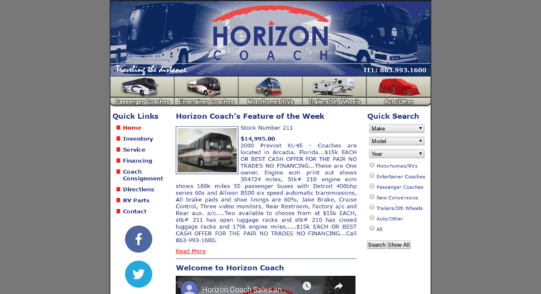 Access horizoncoach com  Bus Conversions, Used Buses for Sale