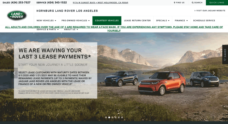 Hornburg Land Rover >> Access Hornburglandroverla Com Land Rover Dealer In West