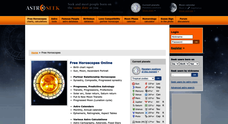Access horoscopes astro-seek com  Horoscopes 2019, Free Horoscopes