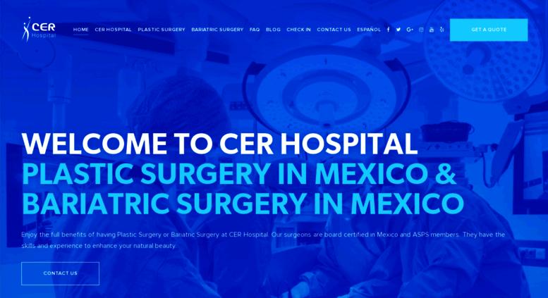 Access hospitalcer com  CER Hospital | Plastic Surgery and