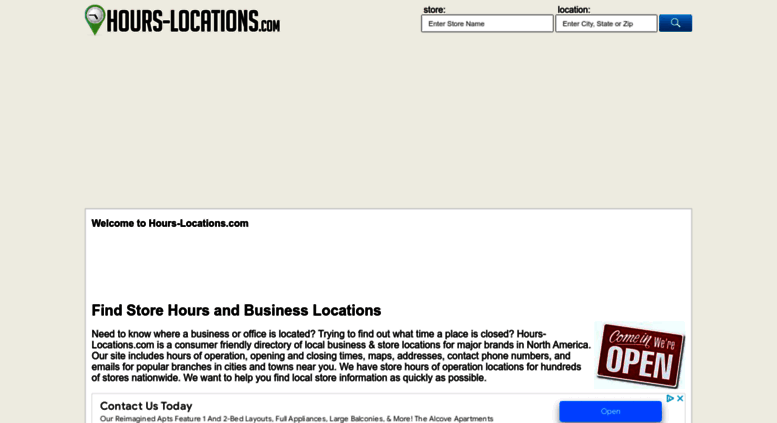 Access Hours Locations Local Business Store