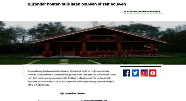 Verrassend Access houten-huis-bouwen.jouwweb.nl. Houten huis bouwen Nederland BJ-28