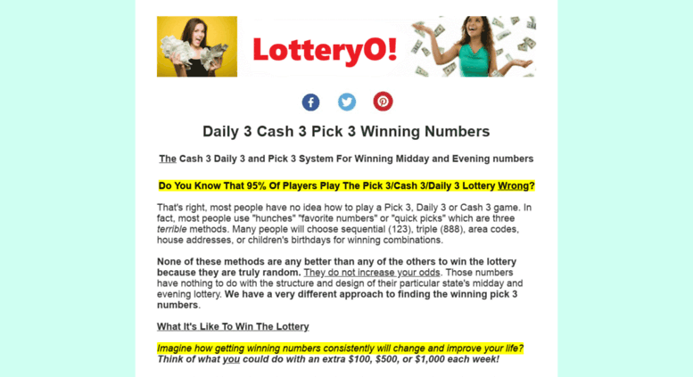 Access howtowinthelottery us  How To Win The Lottery Pick 3