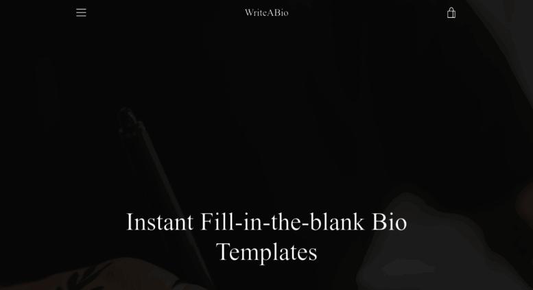 Access Howtowriteabio Com Instant Fill In The Blank Bio