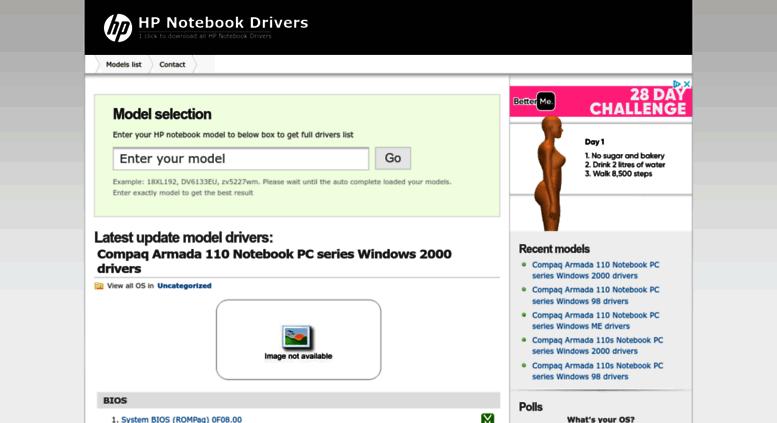 Access hpnotebookdrivers com  HP Notebook Drivers   1 click