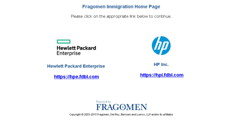 Access hpus fdbl com  Immigration Home Page for HP US