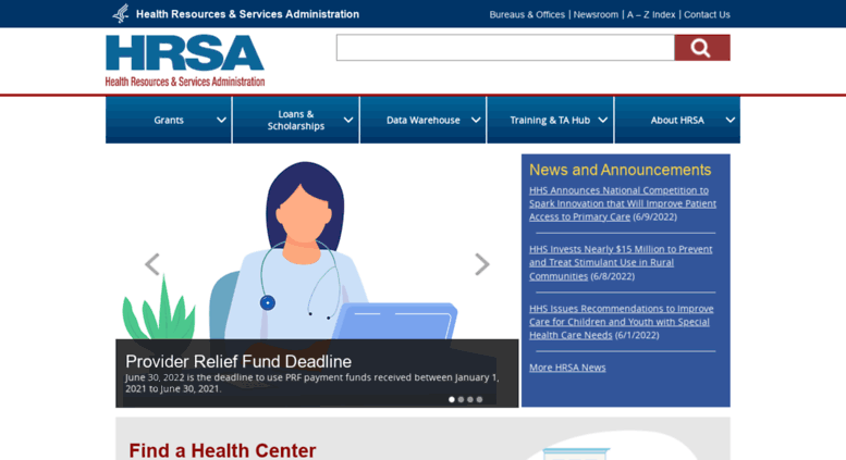 Access hrsa gov  Official web site of the U S  Health