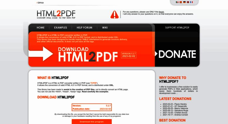 Html2pdf Pdf File