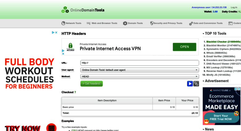 Access Http Headers Online Domain Tools Com Http Headers Check