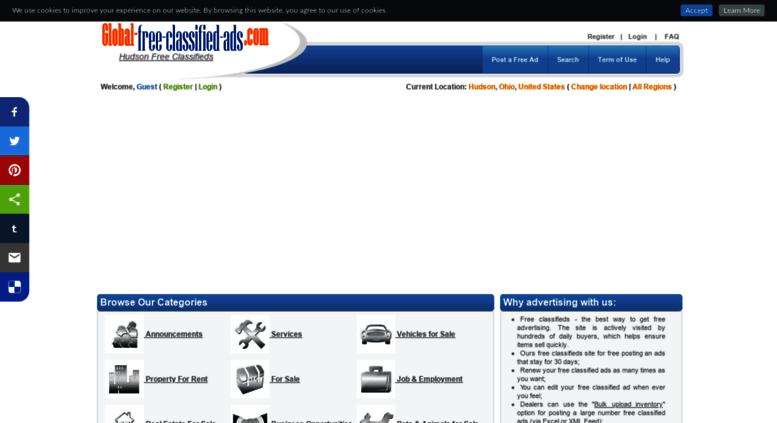 Access hudsonoh global-free-classified-ads com  Free classifieds in
