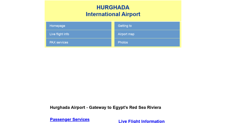 Access hurghada-airport.co.uk. HURGHADA International Airport, Egypt ...