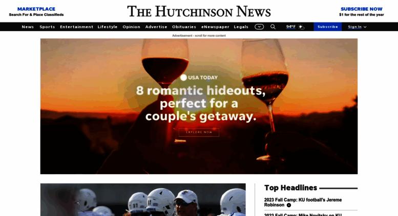 Lovely Hutchnews.com Screenshot